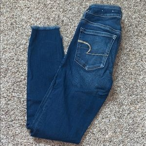 COPY - american eagle skinny jeans, frayed bottom…